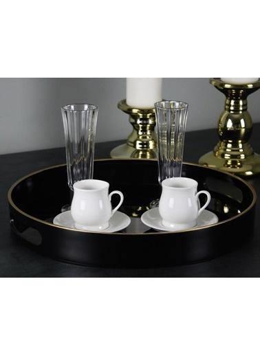 Acar Porselen 6'Lı Kahve Fincan Takımı Renkli